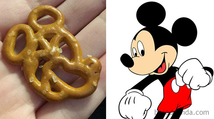 This Pretzel Looks Like Mickey Mouse's Face