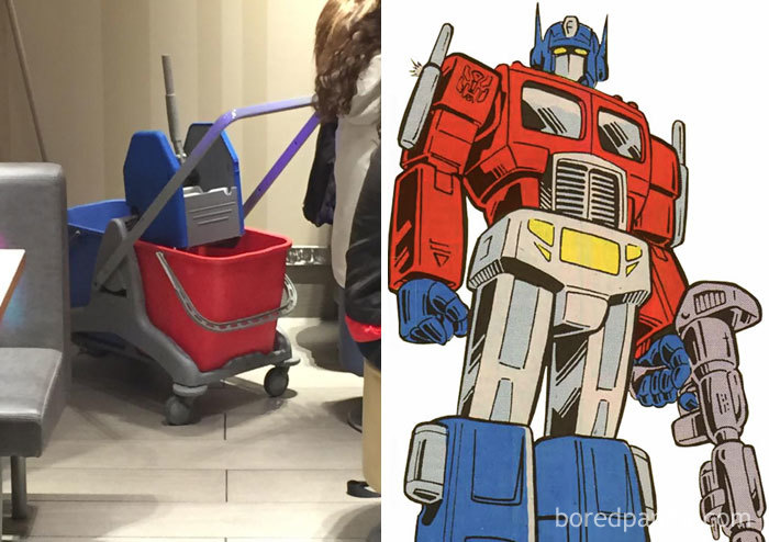 This Mop Bucket Looks Like Optimus Prime