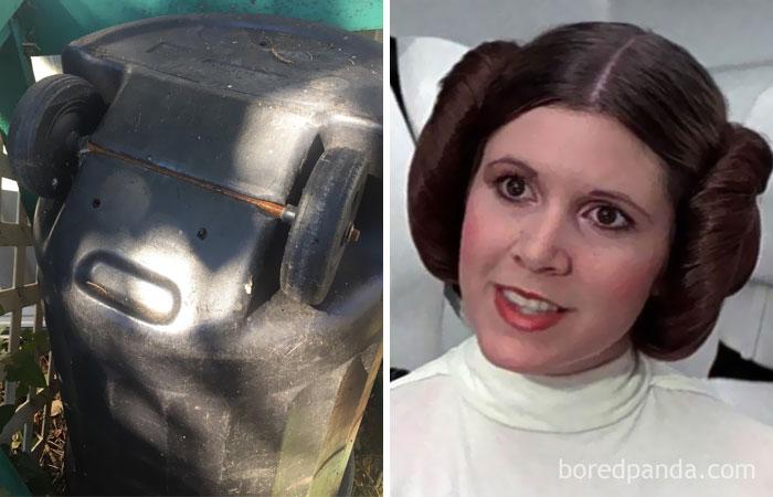 This Trashcan Looks Like Princess Leia