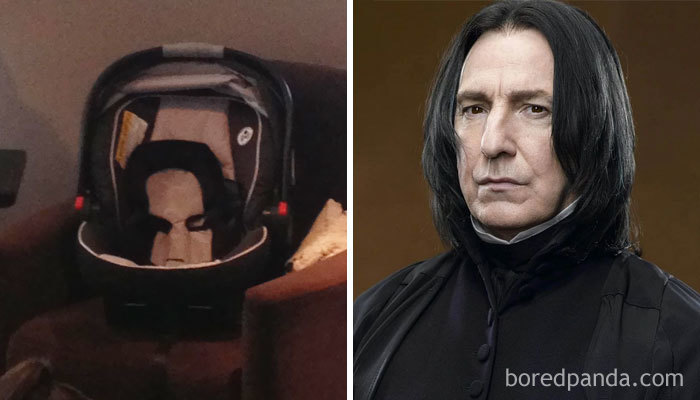My Baby's Car Seat Looks Like Severus Snape