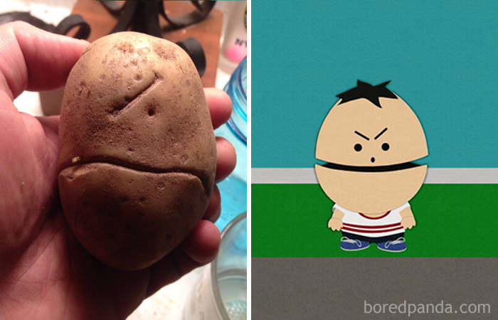This Potato Looks Like A One-Eyed Canadian From South Park