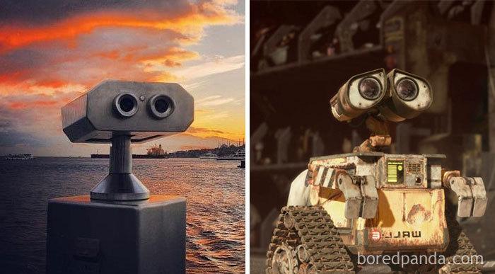 This Coin Binoculars Look Like Wall-E