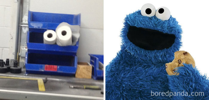 Spotted Cookie Monster At Work Today