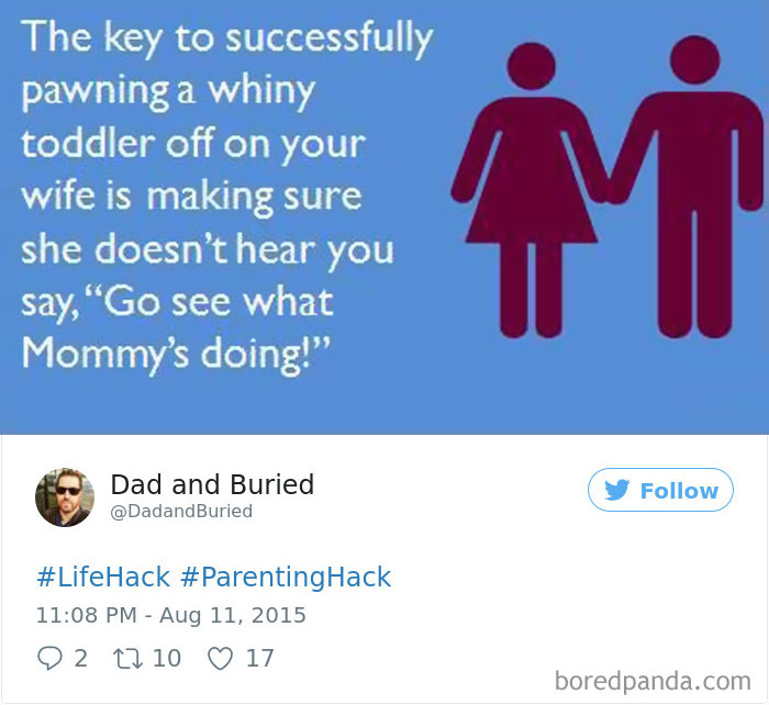 Parenting Hack Tweet