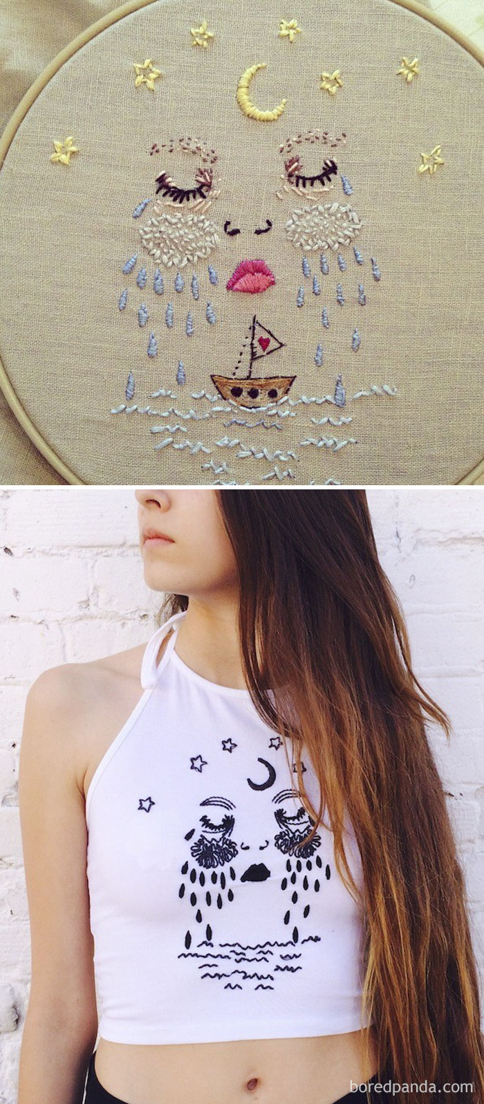 Fashion Label Brandy Melville Knocked Off The Artist Brain Foetus By Placing Her Embroidered Piece On Their Top