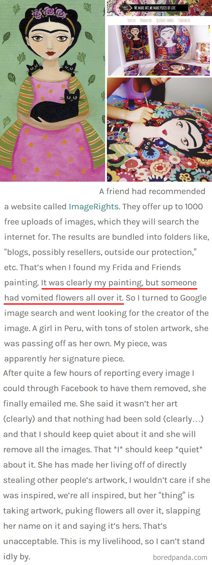 84 Times Artists Caught Companies And Fake Artists Copying