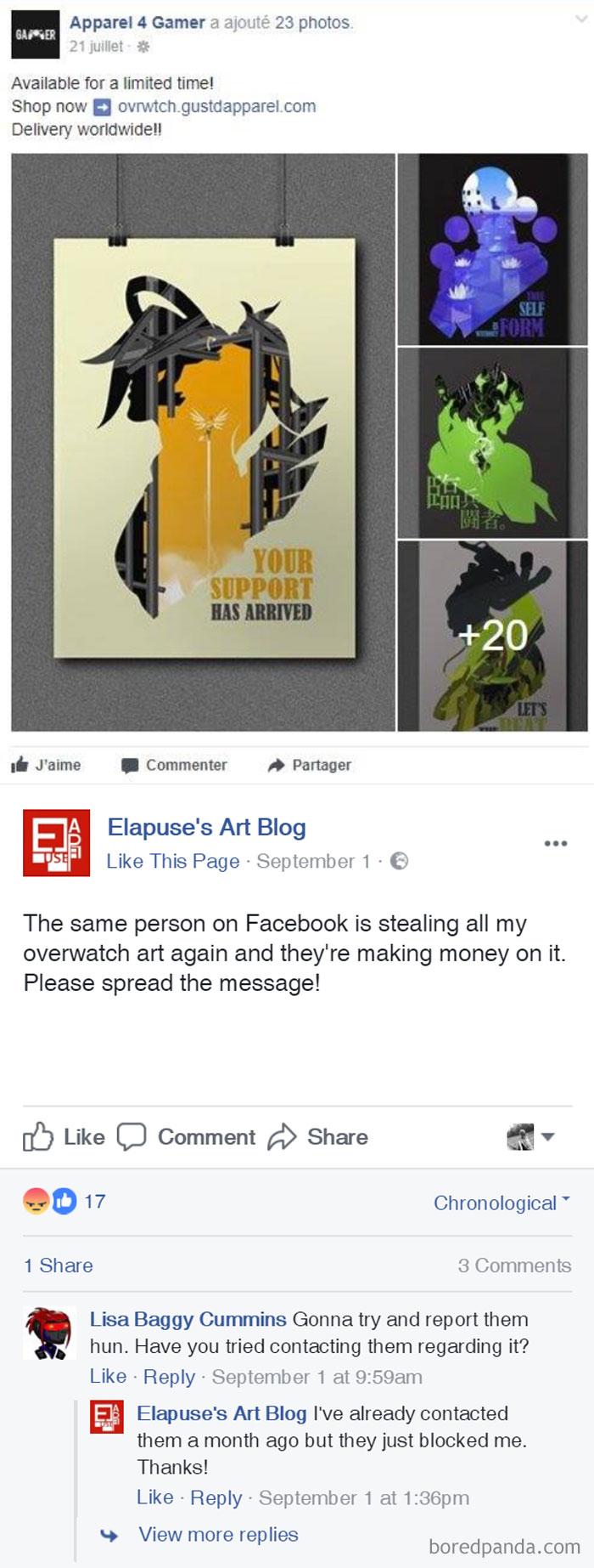Internet Shop Stealing All Artist's Elapuse Art To Make Money Of It