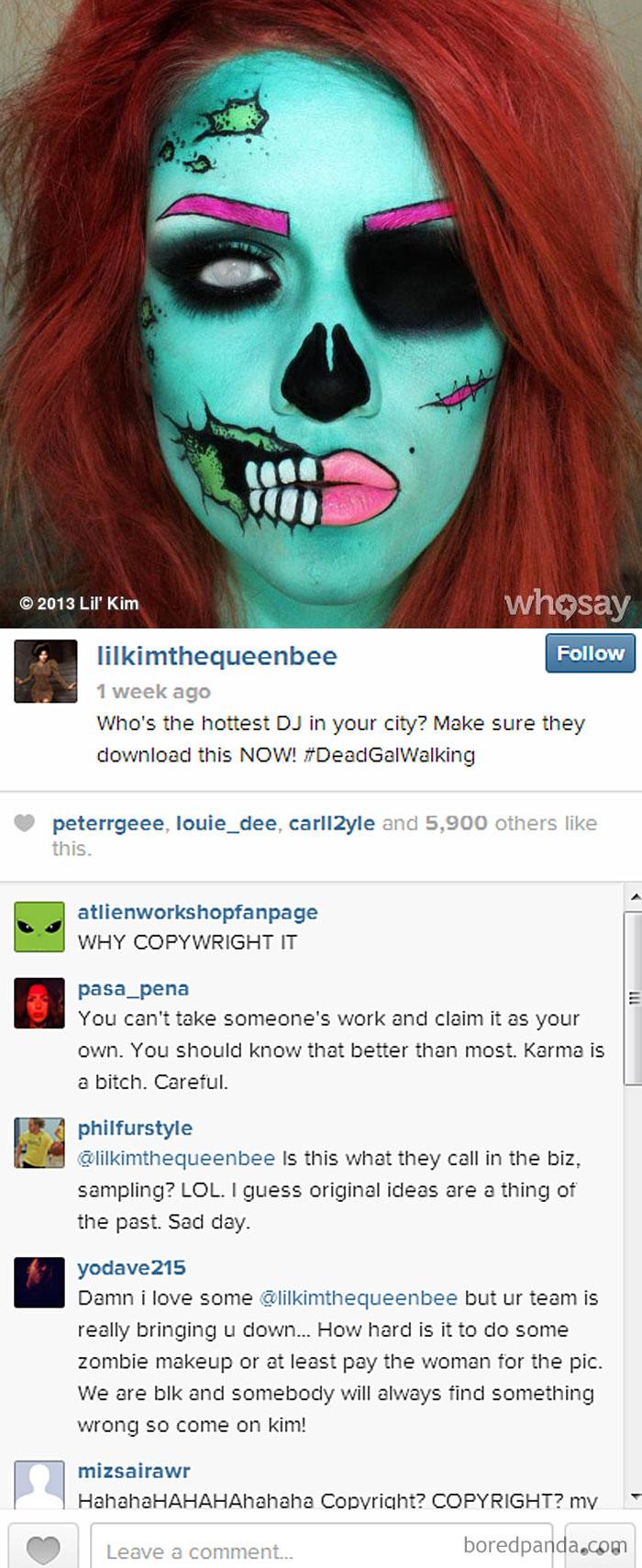 Samantha's R. Original Artwork On Lil Kim's Single Cover