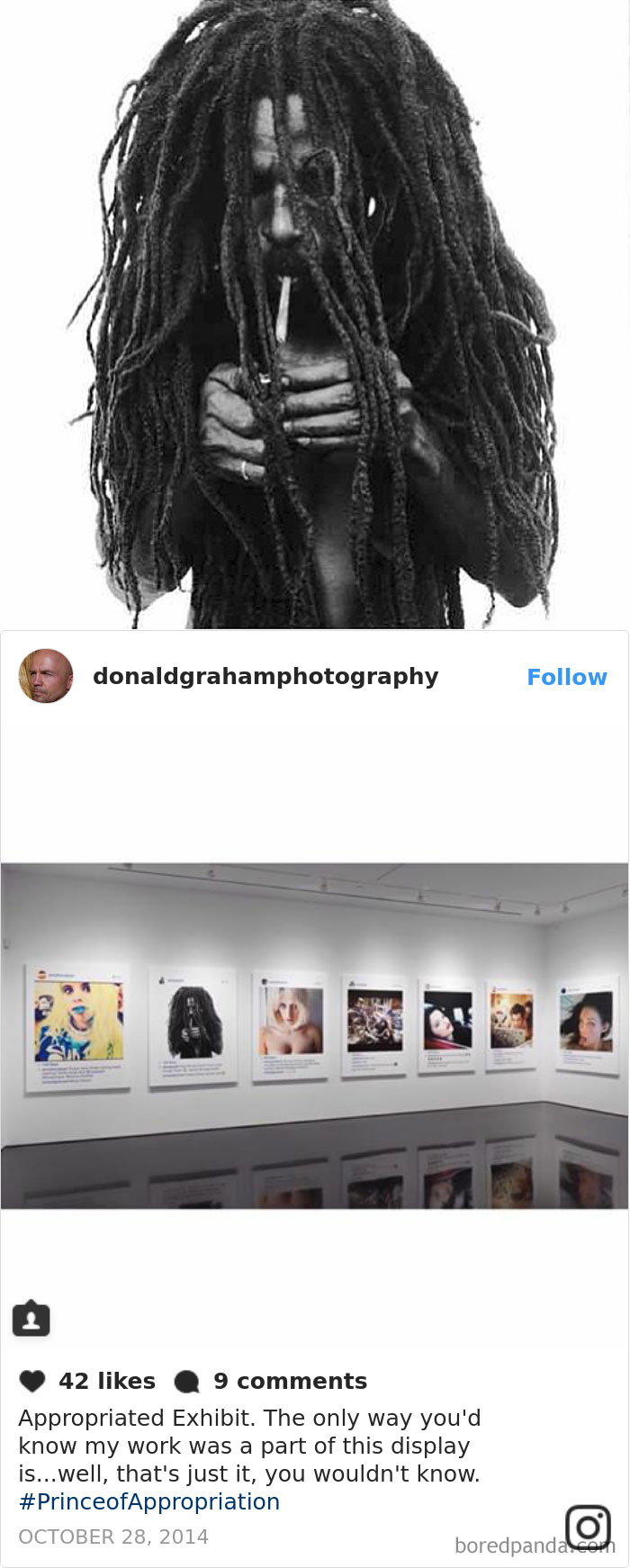 Controversial Artist Richard Prince Exhibits And Sells Screenshots Of Other Photographers' Instagram Photos Without Permission