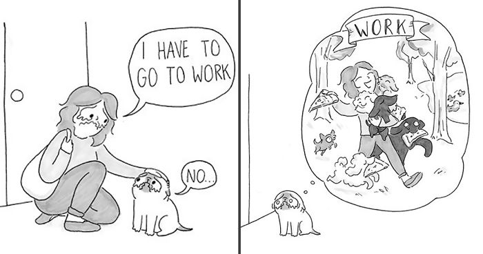 Adorable Comics That Hilariously Sum Up What Its Like Living - 10 funny illustrations every dog owner will relate to