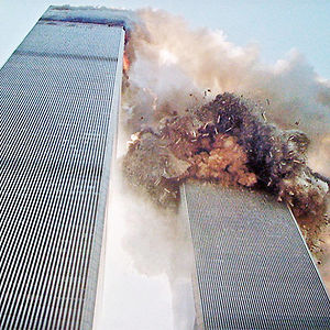 South Tower Of The World Trade Center Collapsing