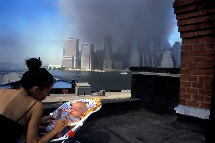 On A Brooklyn Rooftop Shortly After The Collapse Of The Twin Towers