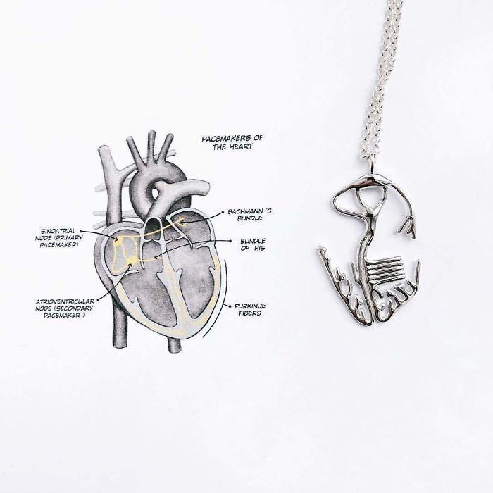 Heart Veins Necklace