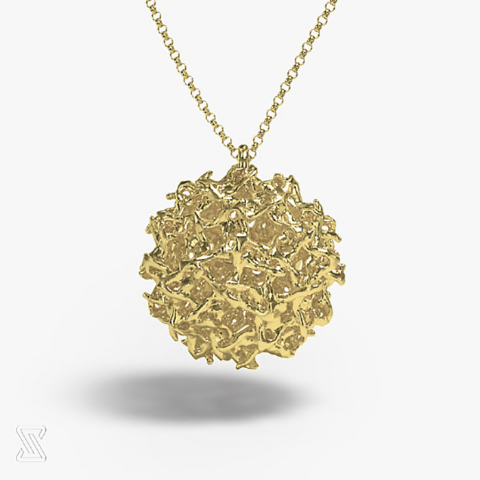 Brass West Nile Virus Necklace