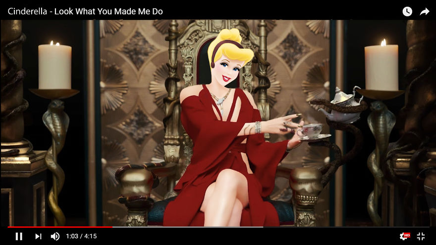 Cinderella As Taylor Swift - Look What You Made Me Do