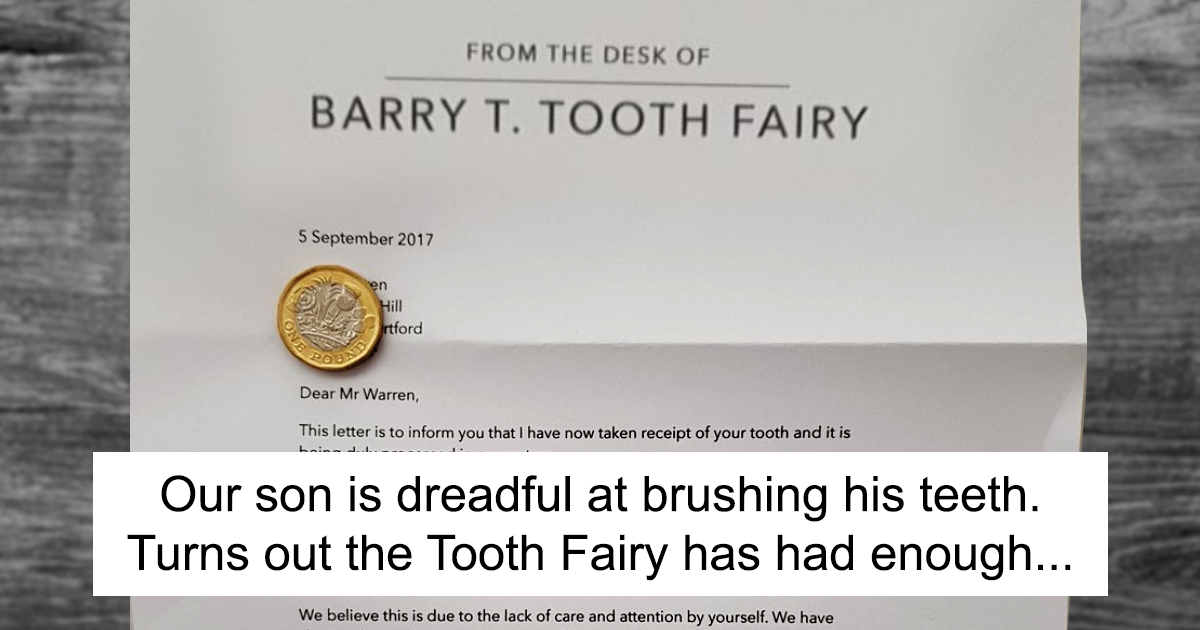 Parents tired of their son not brushing his teeth come up with this parents tired of their son not brushing his teeth come up with this genius letter from the tooth fairy bored panda ccuart Images