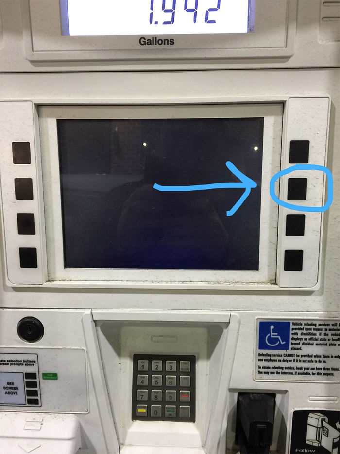 Hit This Button To Silence The Ads At The Gas Pump