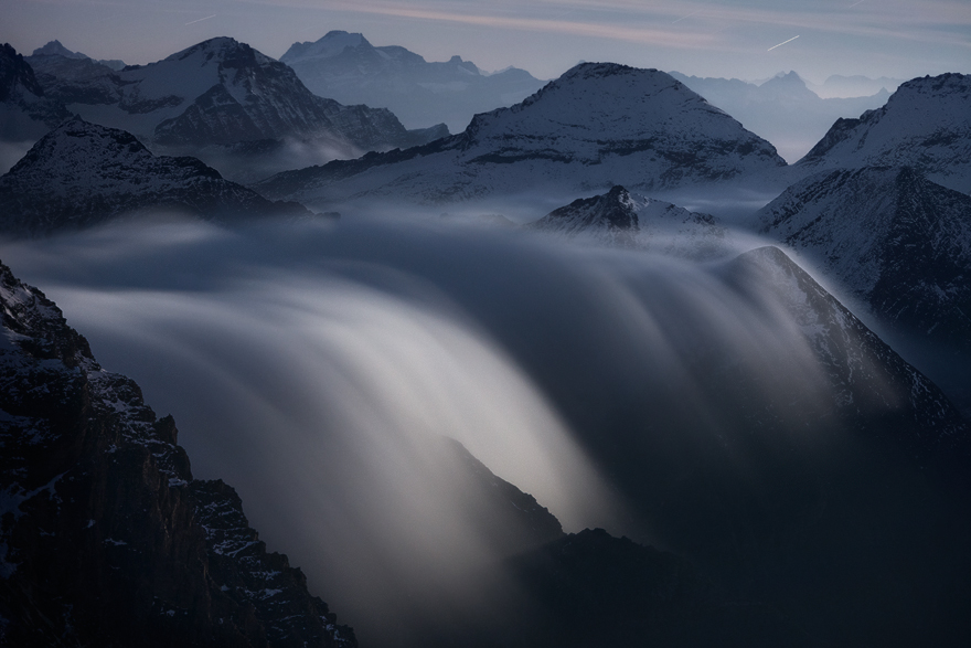 Rivers Of Clouds At Moonlight