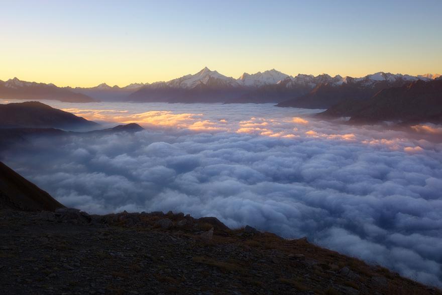 Overlooking An Ocean Of Clouds