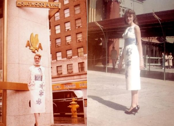 My Nana In Hollywood, Ca In 1959! (#1)hollywood & Vine/(#2)on Liz Taylor's Square