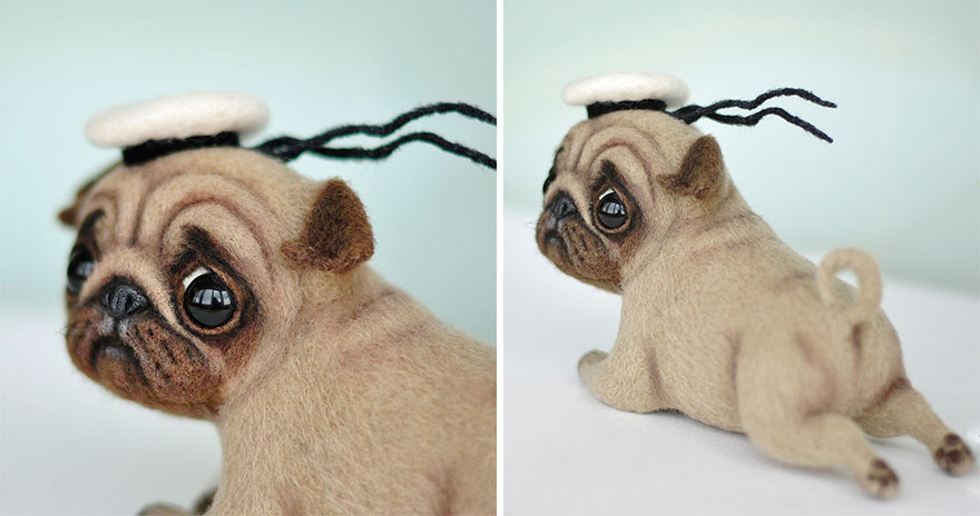 18 Adorable Felted Dogs Created By Mamadocha