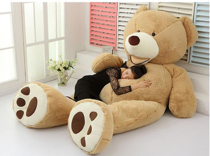 Girls And Giant Teddy Bear