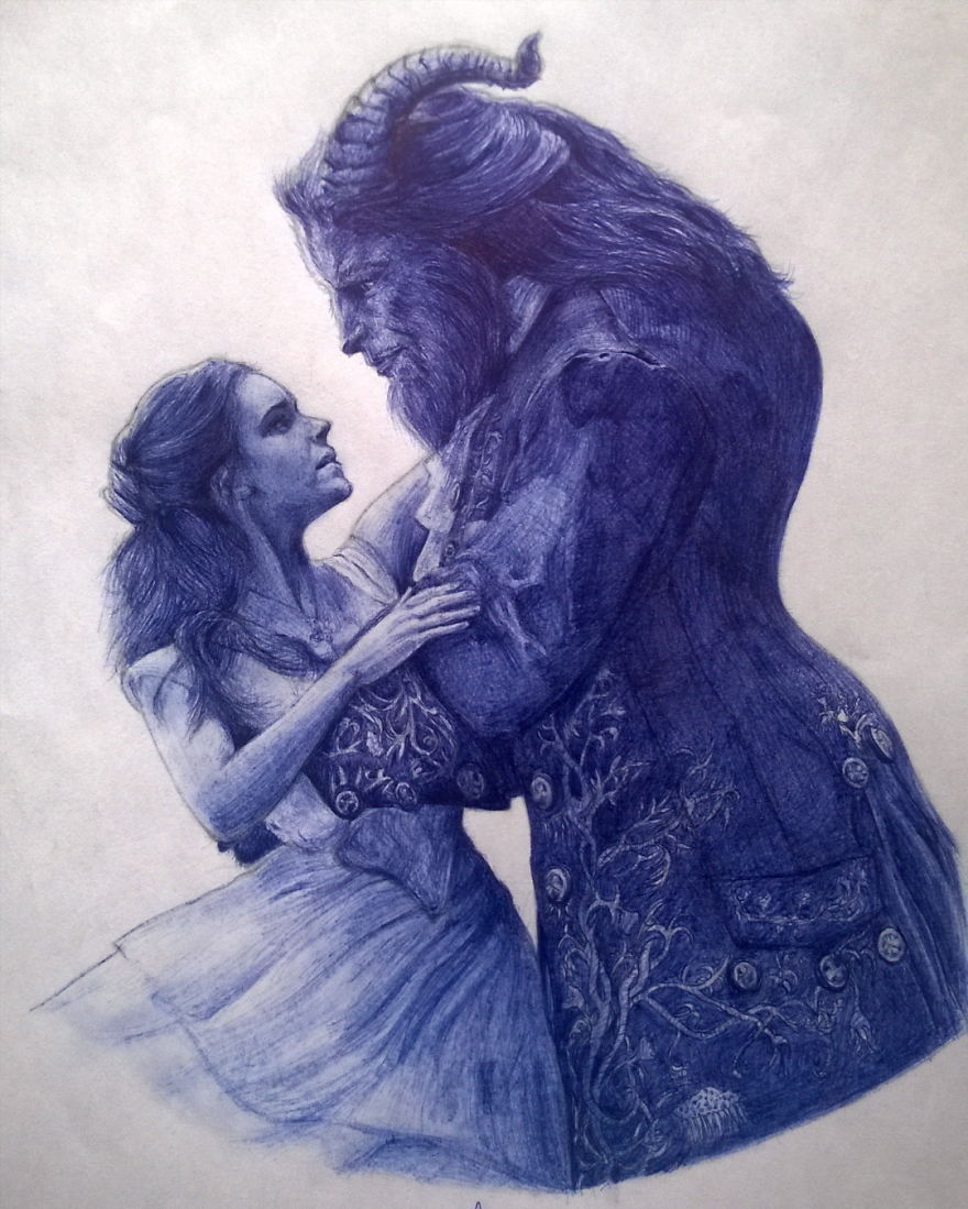 Nigerian artist creates hyper realistic pop culture drawings with ballpoint pen