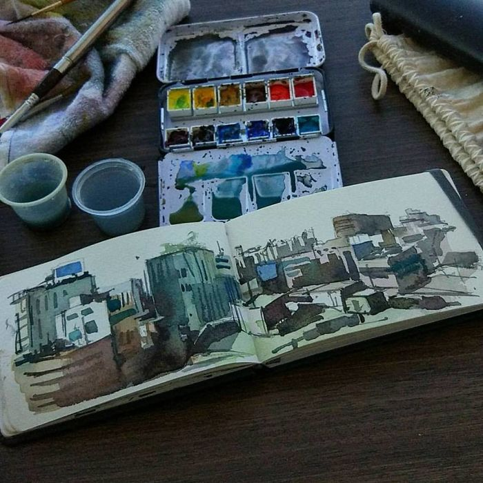 I Toured South Korea With A Tiny Bicycle And A Tiny Sketchbook