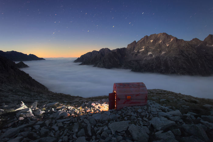 Blue Hour Above A Carpet Of Clouds