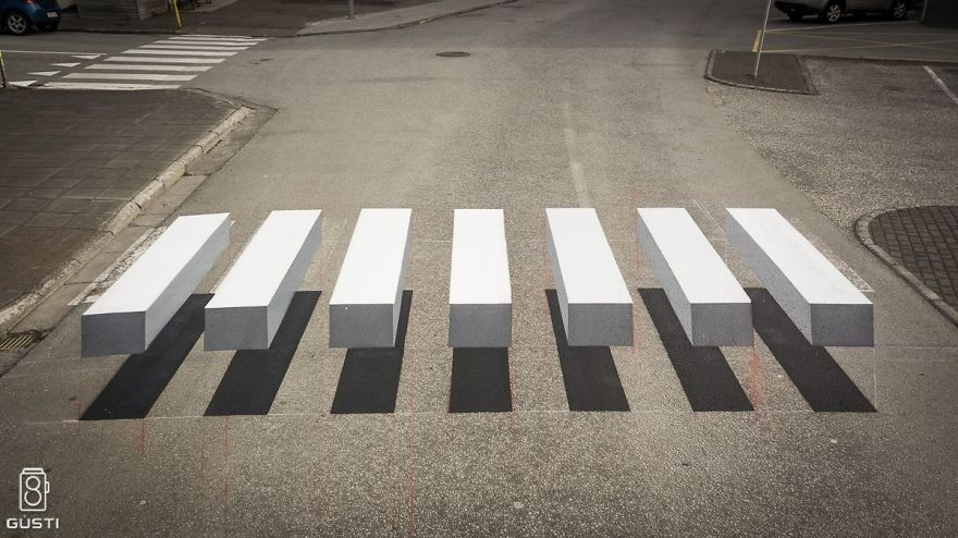 Town in Iceland Paints 3D Zebra Crosswalk To Slow Down Speeding Cars ...