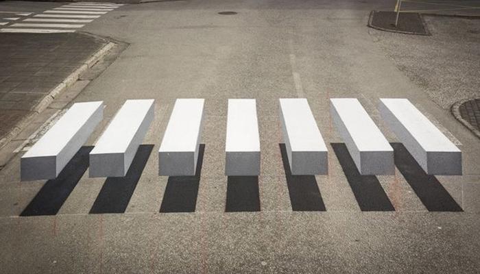 Esta ciudad de Islandia ha pintado pasos de cebra en 3D para que los coches reduzcan su velocidad
