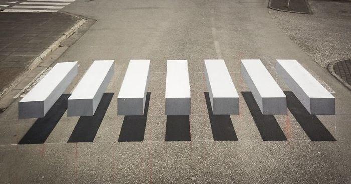 Town In Iceland Paints 3d Zebra Crosswalk To Slow Down Speeding Cars