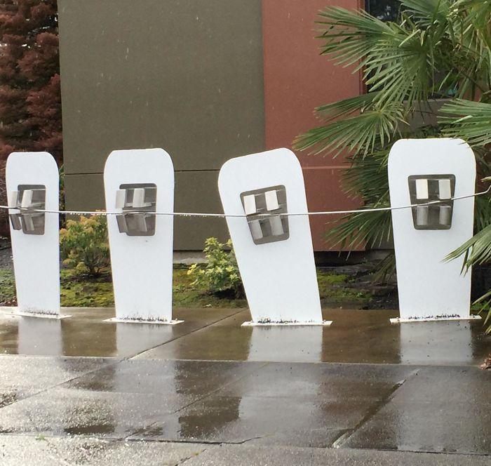 El aparcamiento para bicis de mi ortodoncista