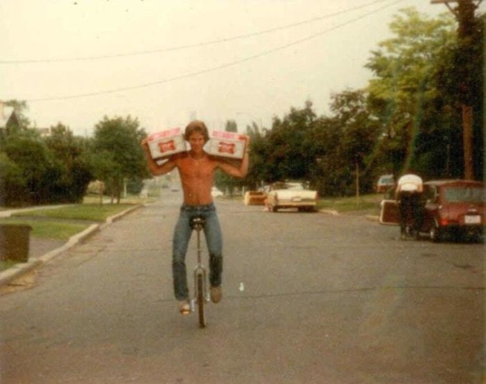 48 Beers And A Unicycle. My Dad In The Early 80s