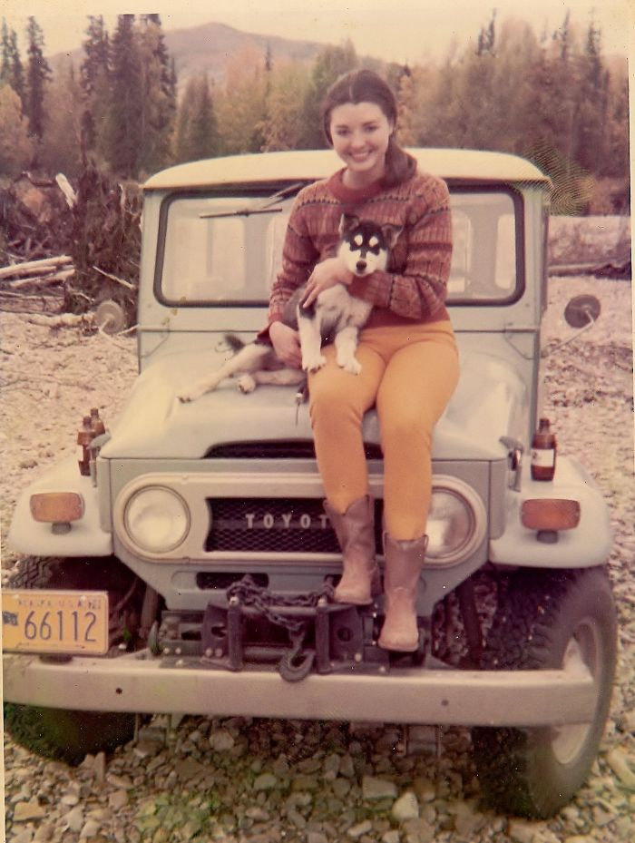 My Mom When She Lived In Alaska With Her Husky Puppy, Okie