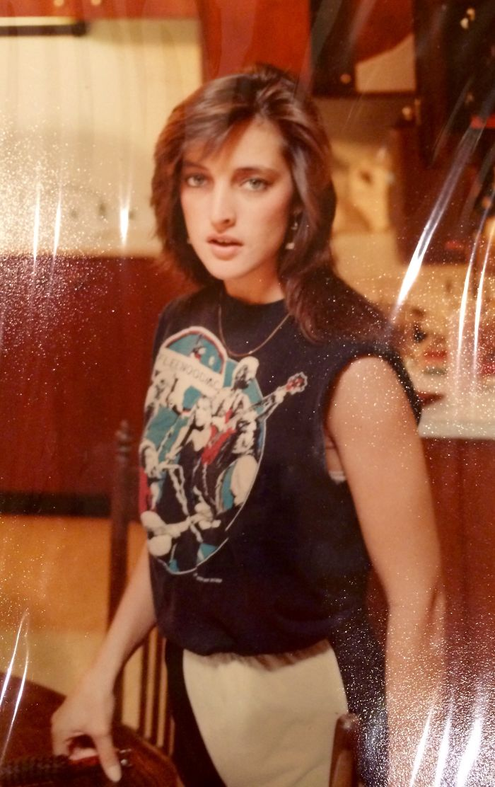 My Mom Thinks She Is So Hardcore In Her Fleetwood Mac Tank Top At Age 18, 1982