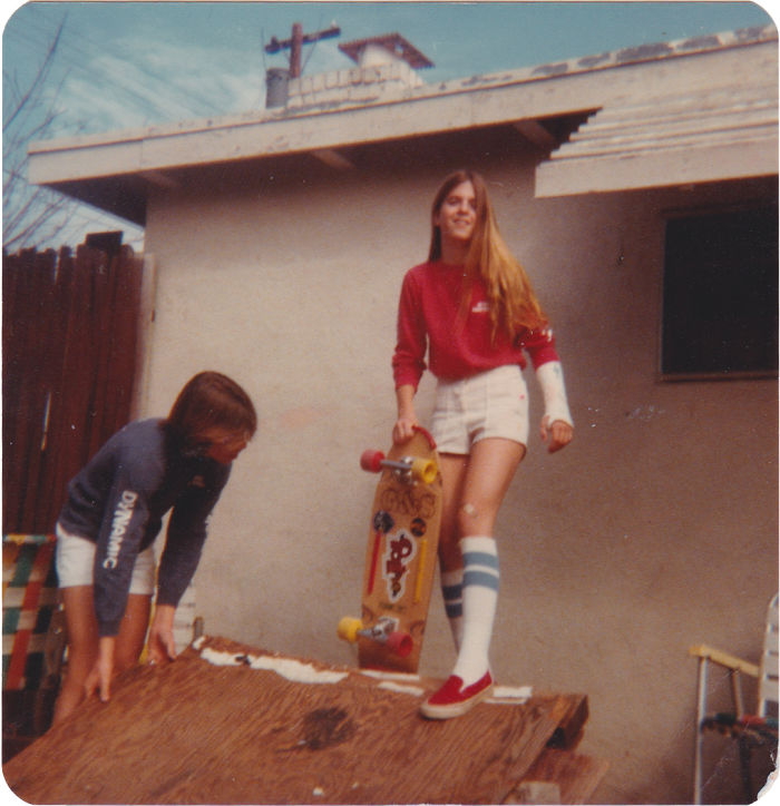 My Mom Skating With A Broken Wrist In The Late 70's