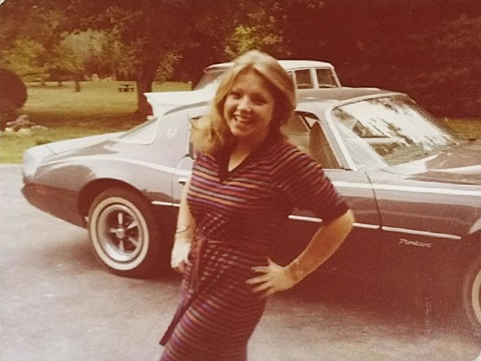 My Cool Mom With Her Firebird. Sometime Around Early 80's