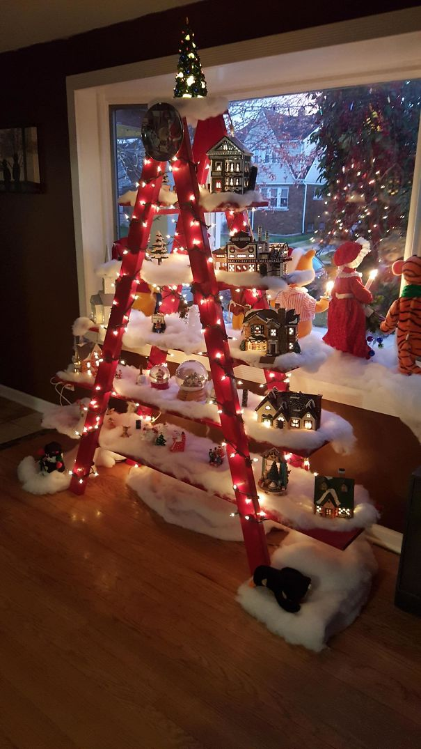 Christmas Tree Ladder I Made For My Wife