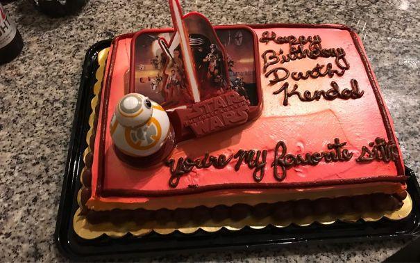 My Boyfriend Got Me A Birthday Cake That Said Darth Kendall Well They