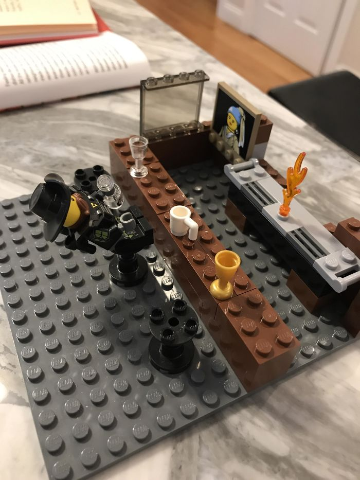 Instead Of Millennium Falcons Or Fire Trucks, My 8-Year-Old Son Builds Lego Bars With Drunk Patrons