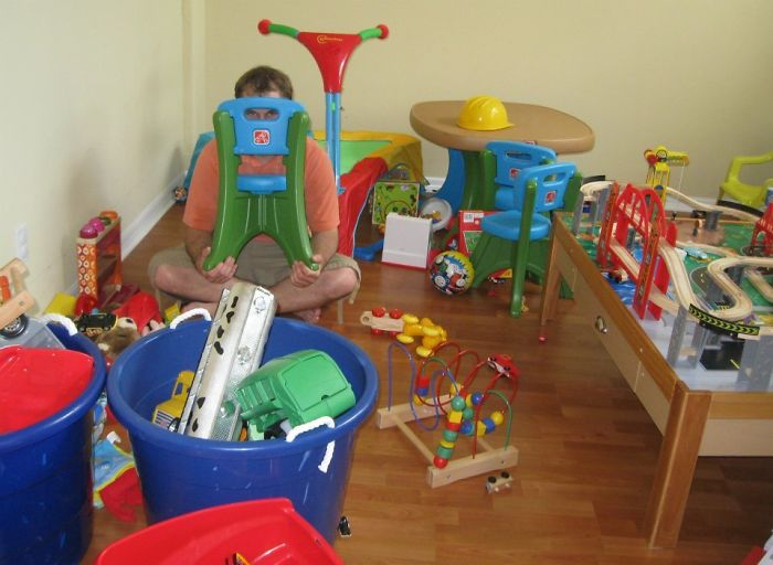 Hoy estaba jugando a escondite con mi sobrino de 3 años, estaba así y no me vio