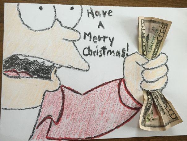 I Made My Nephew A Christmas Card. He Didn't Get It