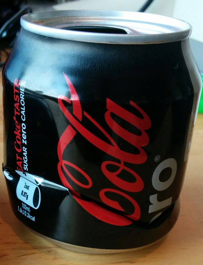I Managed To Crush A Coca Cola Zero Can Perfectly