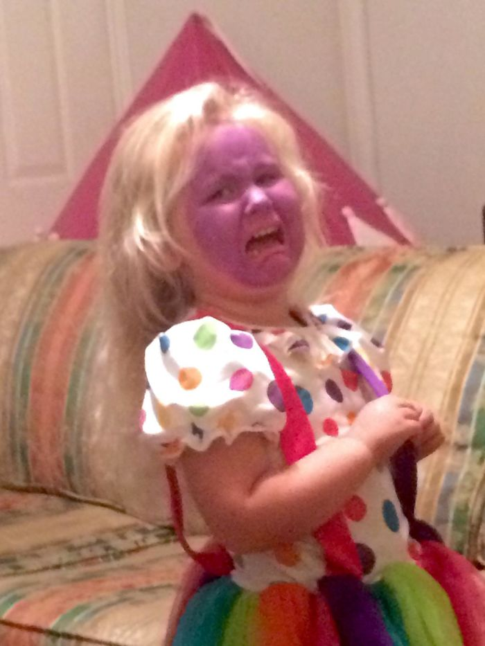 My Daughter Didn't Approve Of My Clown Makeup Job