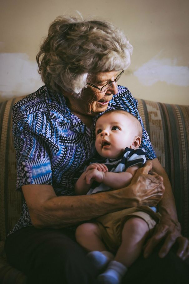 My First Ever Nephew Meeting His Great-Grandmother For The First Time