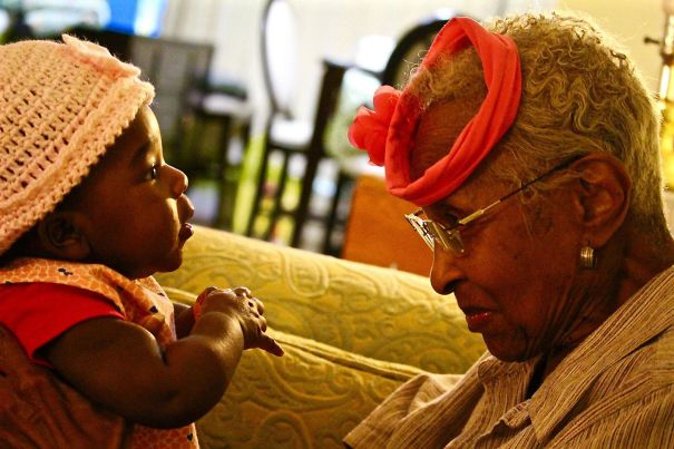 My Daughter Meets Her Great-Grandmother