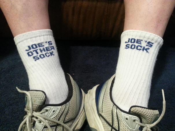 My Uncle Joe Is Down Visiting. These Are His Socks