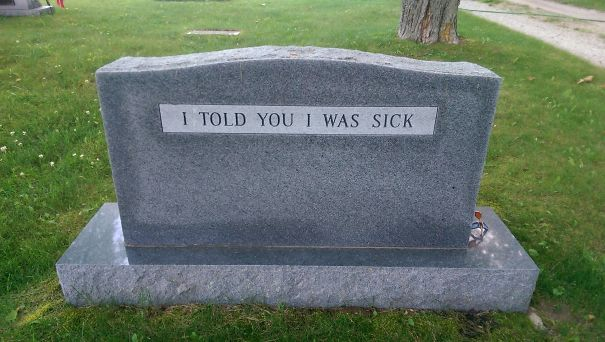 Walking Through A Cemetery When All Of A Sudden...