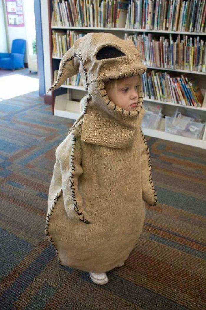 This Kid In Oogie Boogie Costume